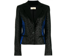 glittered colour block blazer