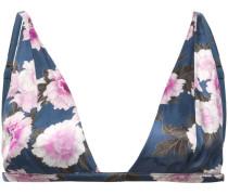Plunge-BH mit Blumen-Print