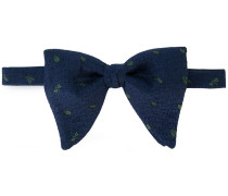 insect embroidered bow tie