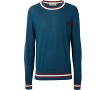 Pullover mit Wappenstickerei