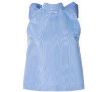 Ärmellose Bluse mit Oversized-Schleife