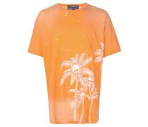 T-Shirt mit Totenkopf-Palmen