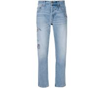 Bestickte Jeans mit geradem Bein