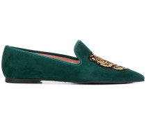 embroidered pointed loafers
