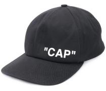 "Baseballkappe mit ""Cap""-Print"