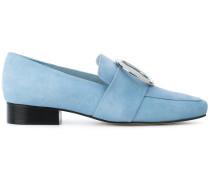 Wildleder-Loafer mit eckiger Kappe