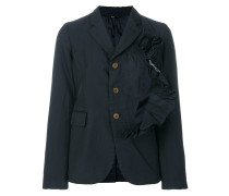 asymmetric frill fitted jacket