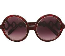 Oversized-Brille mit rundem Gestell