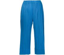 Cropped-Hose mit Falten
