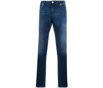 mid-rise slim jeans