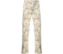 Jeans mit Leo-Print