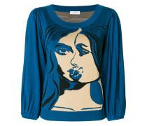 Jacquard-Pullover mit Gesicht-Motiv