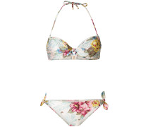 Bikini mit Hibiskus-Print