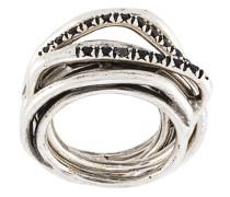 Set aus fünf 'Heritage' Silberringen