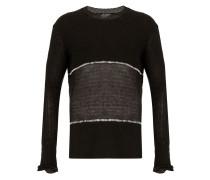 Pullover mit fein gestricktem Einsatz