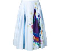 Rainbow Print Cotton Sateen Skirt