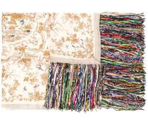 Bedruckter Schal mit Fransen