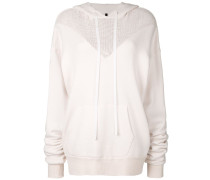 mesh hybrid hoodie