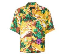 Seidenhemd mit exotischem Print