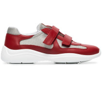 red, grey and white america's cup leather sneakers
