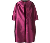 Kokon-Mantel aus Satin
