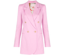 welt pockets double-breasted blazer