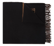 logo wool and cashmere-blend scarf