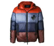 colour blocked padded jacket