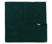 Gerippter Schal mit Logo-Patch