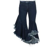 Jeans mit gerüschtem Saum