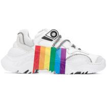 Sneakers mit Regenbogen-Print