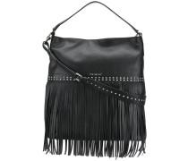 fringed hobo bag
