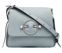 ice blue Disc leather cross-body bag
