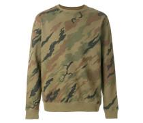 Besticktes Sweatshirt mit Camouflage-Print