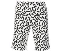 abstract print bermuda shorts
