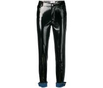 turn-up skinny trousers