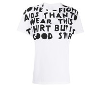 'AIDS Charity' Sweatshirt mit Print