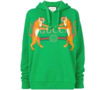 Kapuzenpullover mit Tiger-Print