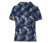 patchwork short sleeve hoodie