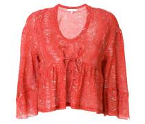 deep U-neck blouse