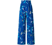 floral print wide-leg trousers