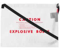 'Caution' Schultertasche