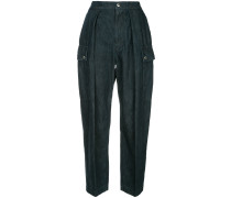lightweight denim tapered cargo trousers