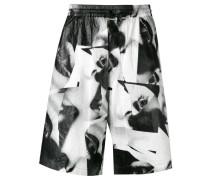 Shorts mit Augen-Print