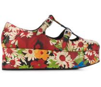 Plateau-Sandalen mit Blumen