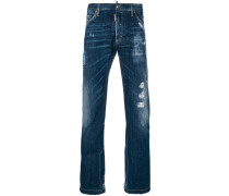 Bootcut-Jeans in Distressed-Optik