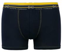 Shorts mit gestreiftem Logo-Bund
