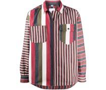 Gestreiftes Hemd mit Reißverschluss