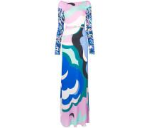 Langes Kleid mit abstraktem Print