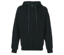 zip-up printed sweatshirt